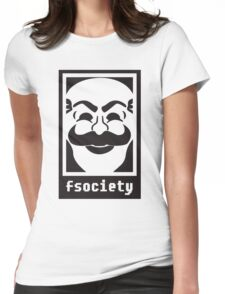 F society - Mr Robot Womens Fitted T-Shirt