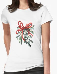 Branch of mistletoe Womens Fitted T-Shirt