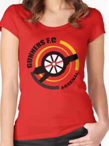 Asenal FC - The Gunners Women's Fitted Scoop T-Shirt