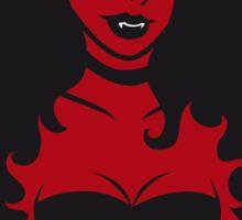 She's devilish ! Sticker