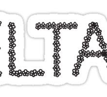 delta flower letter Sticker