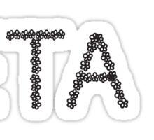 zeta flower letter Sticker
