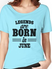 Legends are born in december Women's Relaxed Fit T-Shirt