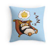 King Penguin Dreams Throw Pillow