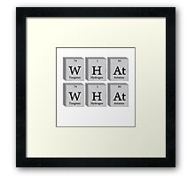 What What Chemistry Science Framed Print