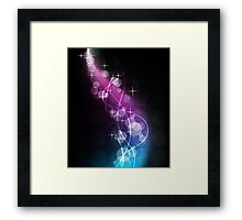 Musically Numb; Abstract Digital Vector Art Framed Print