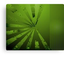 Funky Greeny; Abstract Digital Vector Art Canvas Print