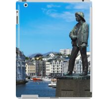 Alesund Harbour Fisherman Statue iPad Case/Skin