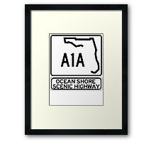A1A - Ocean Shore Scenic Highway Framed Print