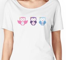 Kokeshi Owls Dolls Women's Relaxed Fit T-Shirt