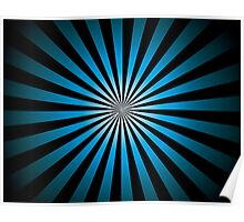 Trippy Night Time; Abstract Digital Vector Art Poster
