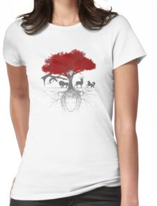 Three-eyed raven tree Womens Fitted T-Shirt