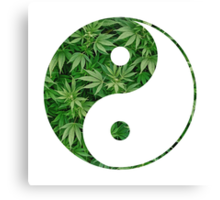 Ying and Yang dope Canvas Print