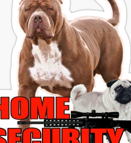 Pit bull pug home security  Sticker