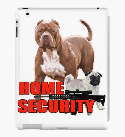 Pit bull pug home security  iPad Case/Skin