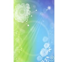 Day & Night; Abstract Digital Vector Art Photographic Print