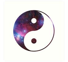 Ying and yang galaxy Art Print