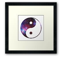 Ying and yang galaxy Framed Print