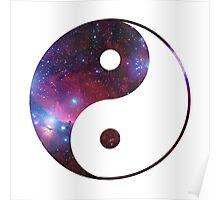 Ying and yang galaxy Poster