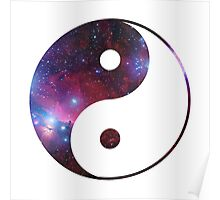 Ying and yang galaxy Poster