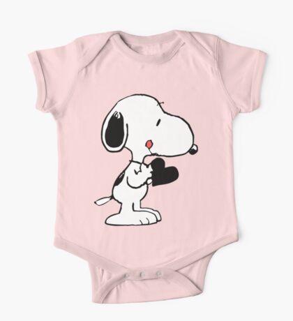 Snoopy's heart  One Piece - Short Sleeve