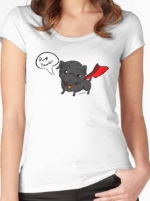 'Super' Cute Pug  Women's Fitted Scoop T-Shirt