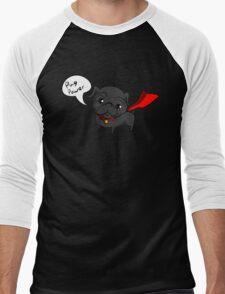 'Super' Cute Pug  Men's Baseball ¾ T-Shirt