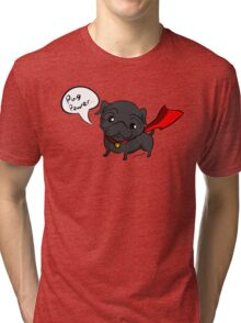 'Super' Cute Pug  Tri-blend T-Shirt