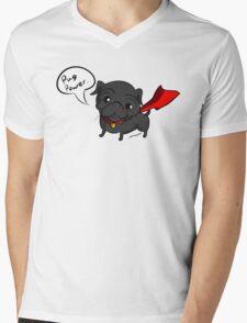 'Super' Cute Pug  Mens V-Neck T-Shirt