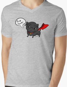 'Super' Cute Pug  Mens V-Neck T-Shirt