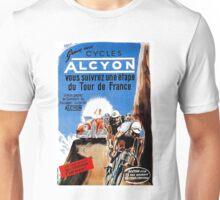 TOUR DE FRANCE; Vintage Alcyon Bike Racing Print Unisex T-Shirt
