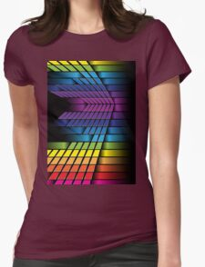 Skyline; Abstract Digital Vector Art Womens Fitted T-Shirt