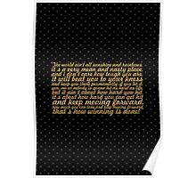 """The world ain't... """"Rocky Balboa"""" Inspirational Quote Poster"""