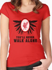 Liverpool FC - Ynwa Women's Fitted Scoop T-Shirt