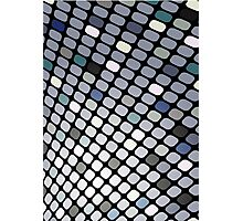 Silver Touch; Abstract Digital Vector Art Photographic Print