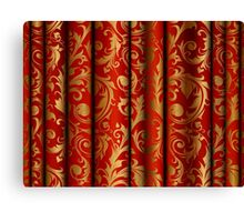 Red Curtain Call; Abstract Digital Vector Art Canvas Print