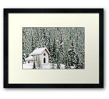 """White Christmas"" in Misurina - Italy Framed Print"