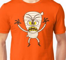 Scary Halloween Mummy Emoticon Unisex T-Shirt