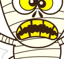 Scary Halloween Mummy Emoticon Sticker