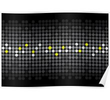 These are Dots; Abstract Digital Vector Art Poster
