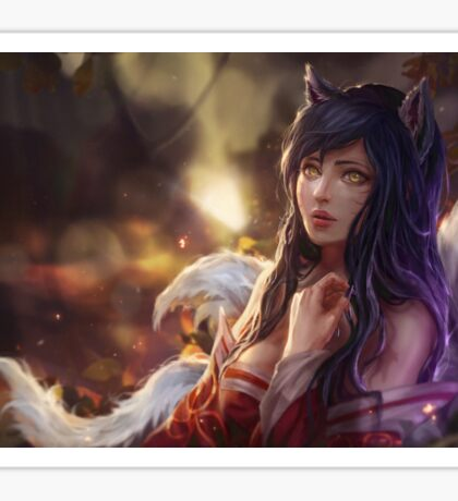 Ahri - Portrait - League of Legends Sticker