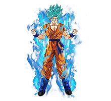 Goku Super Saiyan Blue Photographic Print
