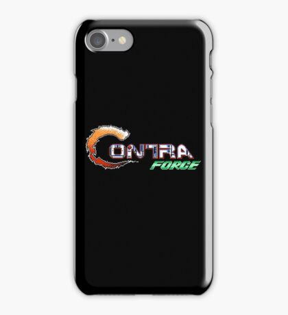 Contra Force - NES Title Screen iPhone Case/Skin