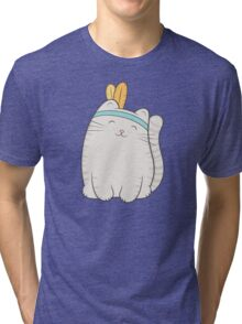 fin, the cat Tri-blend T-Shirt