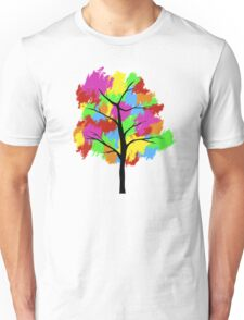 Rainbow Pixel Tree Unisex T-Shirt