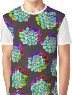 Glitched Succulents Graphic T-Shirt