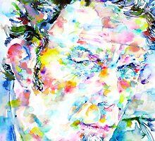 TOM WAITS - watercolor portrait by lautir