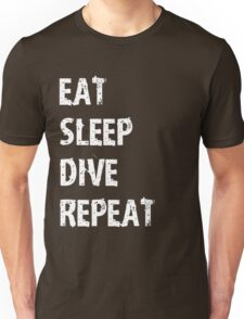 Eat Sleep Dive Repeat Sport Shirt Funny Cute Gift For Team Player Swim Swimming Swimmer Diver Unisex T-Shirt