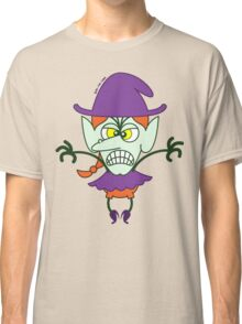 Scary Halloween Witch Emoticon Classic T-Shirt