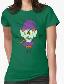 Scary Halloween Witch Emoticon T-Shirt